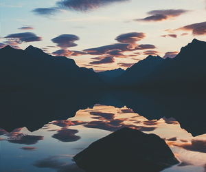 mountains, wallpaper, and lake image