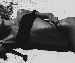 beach, beauty, and model image