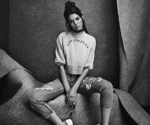 beauty, black and white, and jenner image