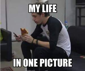 life, pizza, and niall horan image