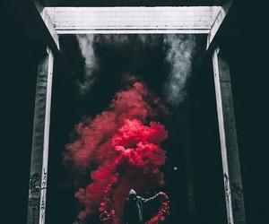 red, dark, and smoke image