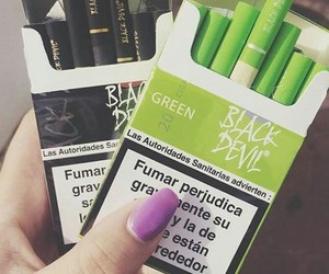 green, black, and cigarettes image