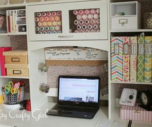desk, inspiration, and organizing image