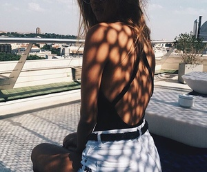 girl, summer, and fashion image