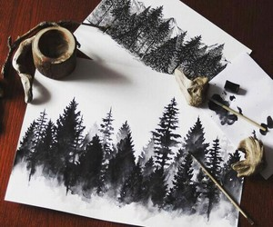 art and black and white image