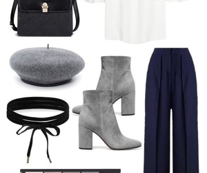 bag, boots, and chic image
