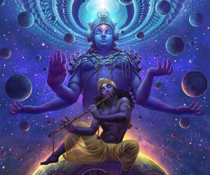 eternal, Krishna, and space image