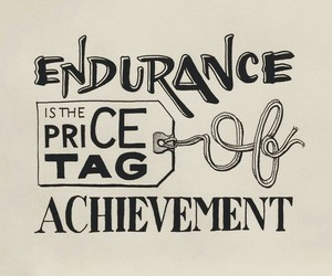 endurance, hand lettering, and quote image