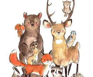 animals, etsy, and forest animals image