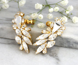 bridal, bridal jewelry, and crystal jewelry image