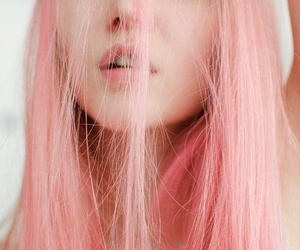aesthetic, girl, and pink image