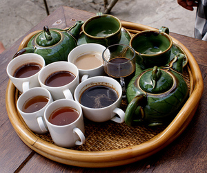tea, coffee, and green image
