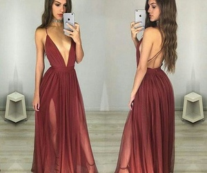 dress, red, and outfit image