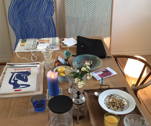 breakfast, art, and interior image