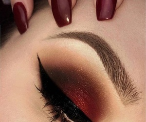brown, eyeliner, and eyeshadow image