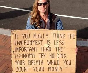 environment, money, and quotes image