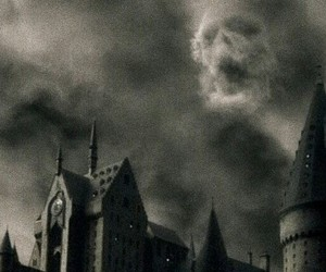 harry potter, hogwarts, and dark image