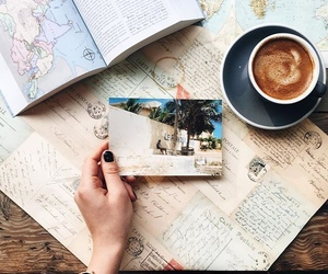 coffee, aesthetic, and map image