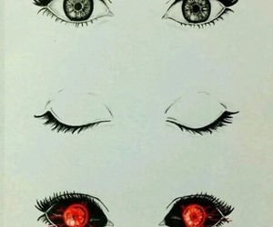 eyes, anime, and tokyo ghoul image
