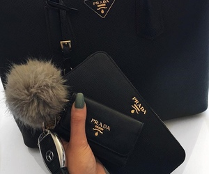 Prada, black, and fashion image