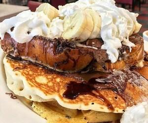 breakfast, food, and waffles image