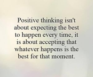 positive thinking and expecting the best image