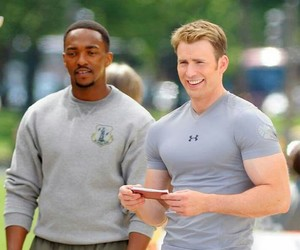 actor, chris evans, and captain america image