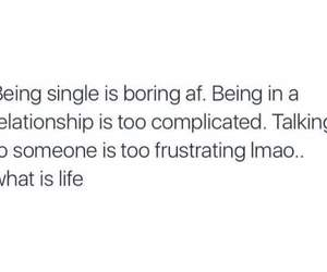single, complicated, and life image