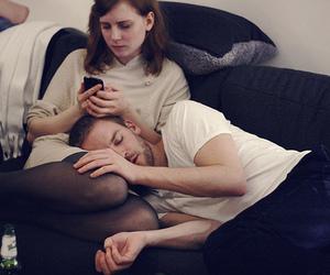couple and sleeping image