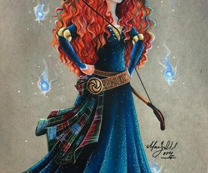 merida, disney, and princess image