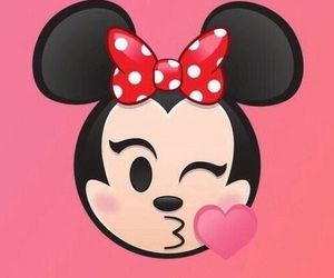 minnie, emoji, and wallpaper image