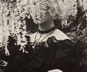 black and white, fashion, and dark image