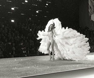 angel, behati, and black and white image