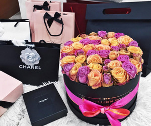 luxury, chanel, and flowers image