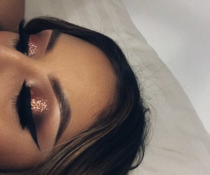 makeup, glitter, and beauty image