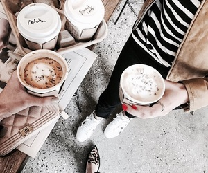 coffee, friends, and girly image