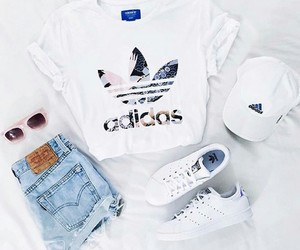 adidas, cap, and clothes image