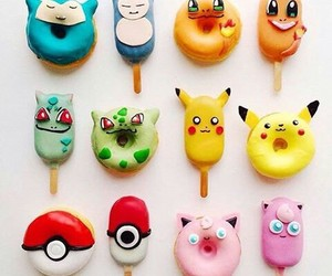 pokemon, food, and donuts image