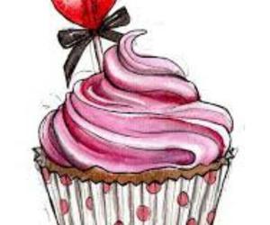 cupcake, sweet, and art image