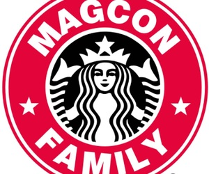 starbucks, magcon, and magcon family image