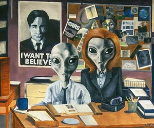 alien, grunge, and x-files image