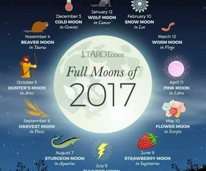 calendar, 2017, and full moon image