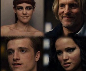 haymitch, johanna, and katniss image