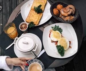 beautiful, breakfast, and nature image