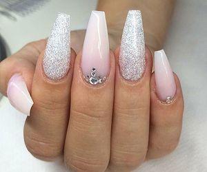 nails, black, and girl image