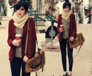 fall outfit and maroon sweater image