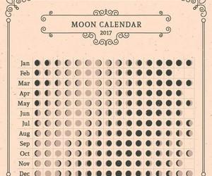 moon, calendar, and 2017 image