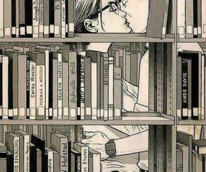 book, love, and kiss image