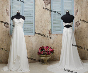 etsy, wedding party dress, and white evening dress image