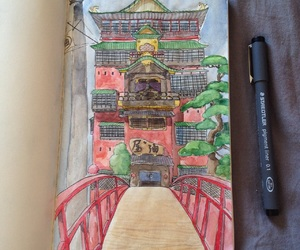 anime, chihiro, and drawing image